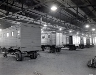 Picture showing Highland Body company WW2 Transport trailers